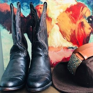 Authentic Western Leather Boots: